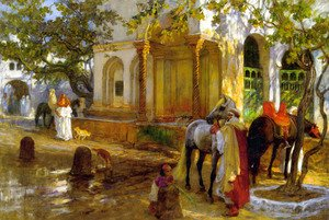 Frederick Arthur Bridgman - At The Fountain