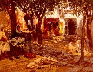 Frederick Arthur Bridgman - Idle Moments: An Arab Courtyard
