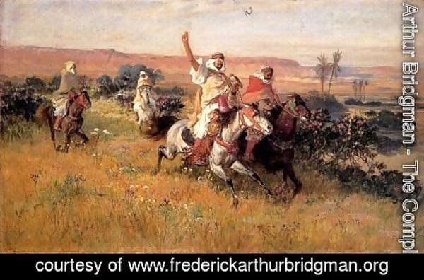 Frederick Arthur Bridgman - The Falcon Hunt