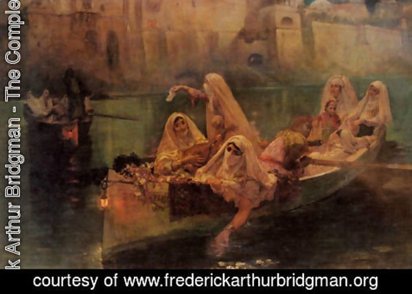 Frederick Arthur Bridgman - The Harem Boats