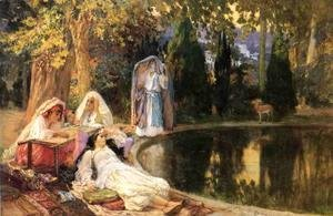Frederick Arthur Bridgman - In the Garden at Mustapha