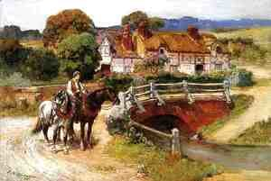Frederick Arthur Bridgman - The Old Bridge, Normandy
