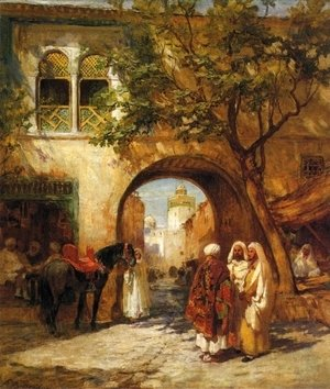 Frederick Arthur Bridgman - By the City Gate