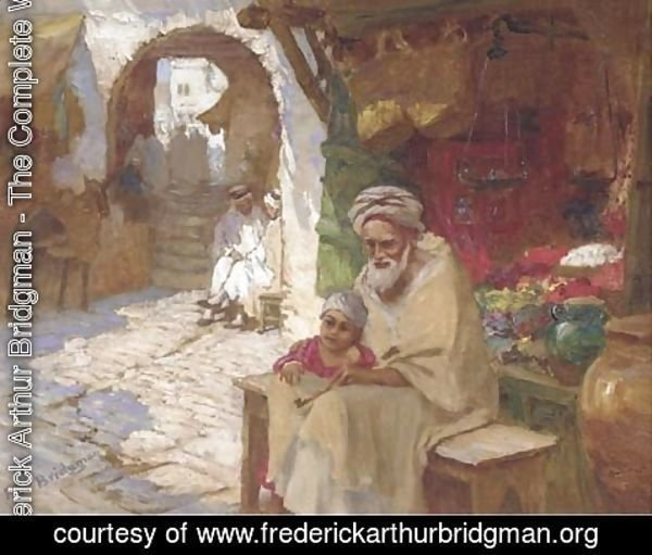 Frederick Arthur Bridgman - A corner of the bazaar