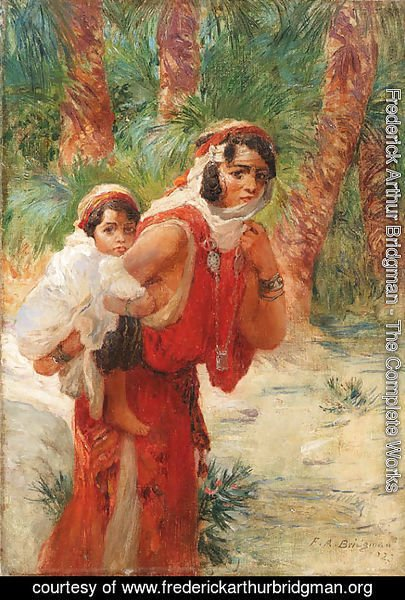 Frederick Arthur Bridgman - Algerian mother and child
