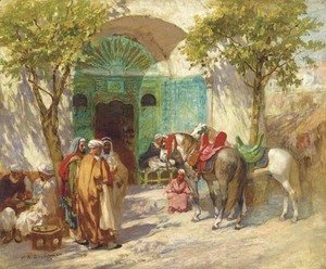 Frederick Arthur Bridgman - Outside the Mosque