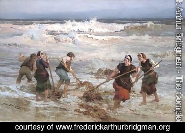 Frederick Arthur Bridgman - The seaweed gatherers