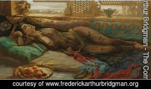 Frederick Arthur Bridgman - The Harem Beauty