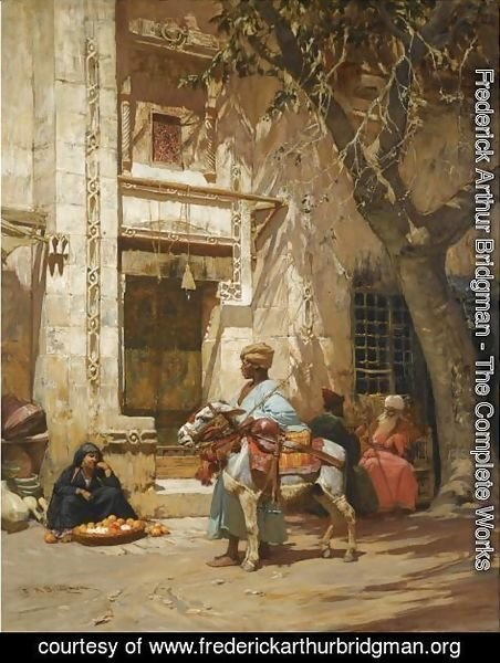 Frederick Arthur Bridgman - Outside The Mosque 2
