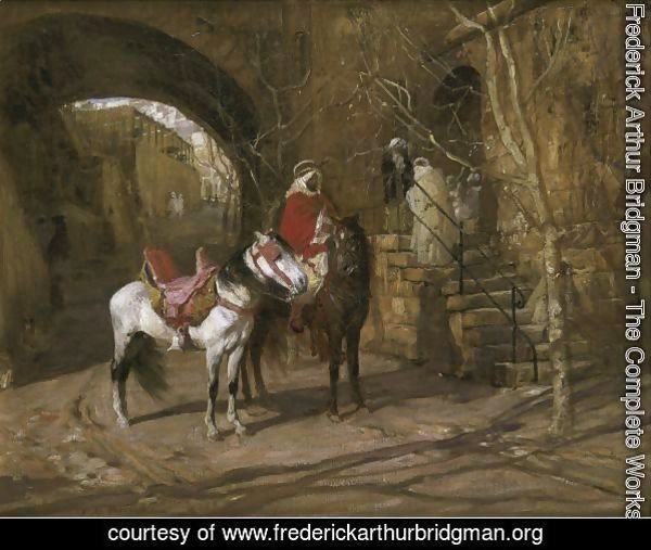 Horseman In A Courtyard