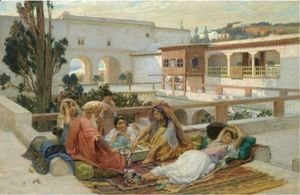 Frederick Arthur Bridgman - An Afternoon's Amusement