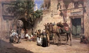 Frederick Arthur Bridgman - In The Courtyard 2
