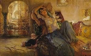 Frederick Arthur Bridgman - The Odalisque