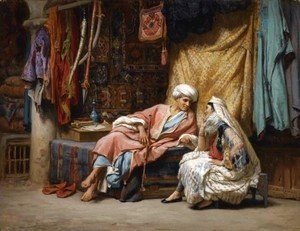 Frederick Arthur Bridgman - In the Souk, Tunis