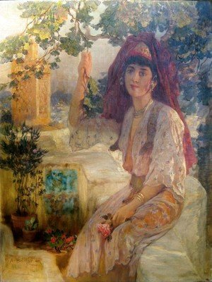 Frederick Arthur Bridgman - Young Girl in Tlemcen
