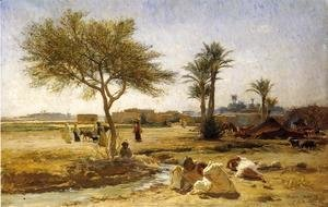 Frederick Arthur Bridgman - An Arab Village