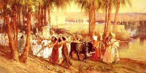 Frederick Arthur Bridgman - An Egyptian Procession