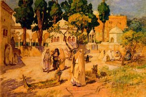 Frederick Arthur Bridgman - Arab Women At The Town Wall