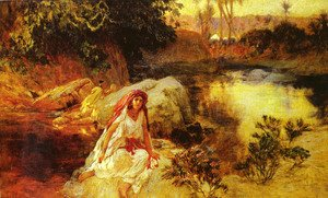 Frederick Arthur Bridgman - At The Oasis