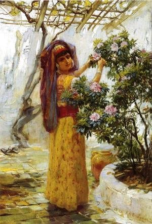 Frederick Arthur Bridgman - In The Courtyard