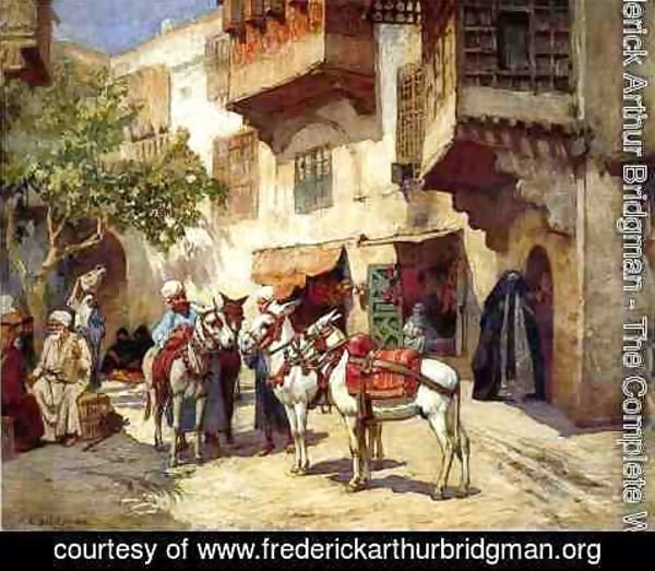 Frederick Arthur Bridgman - Marketplace In North Africa