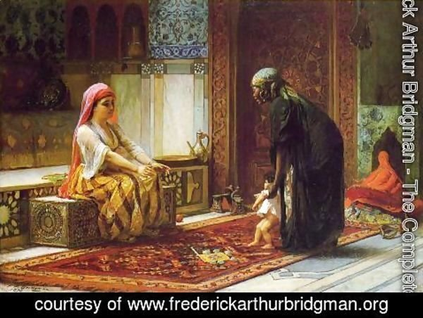 Frederick Arthur Bridgman - Mother And Child