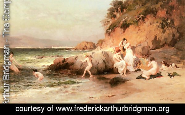 Frederick Arthur Bridgman - The Bathing Beauties
