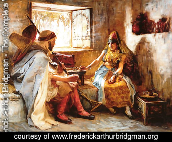 Frederick Arthur Bridgman - The Game Of Chance