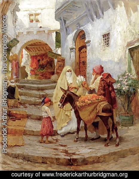 Frederick Arthur Bridgman - The Orange Seller