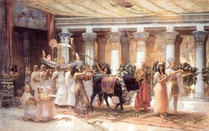 Frederick Arthur Bridgman - The Procession Of The Sacred Bull Anubis