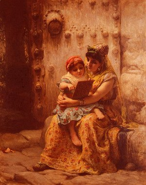 Frederick Arthur Bridgman - The Reading Lesson