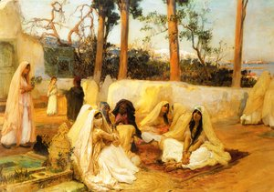 Frederick Arthur Bridgman - Women At The Cemetery  Algiers